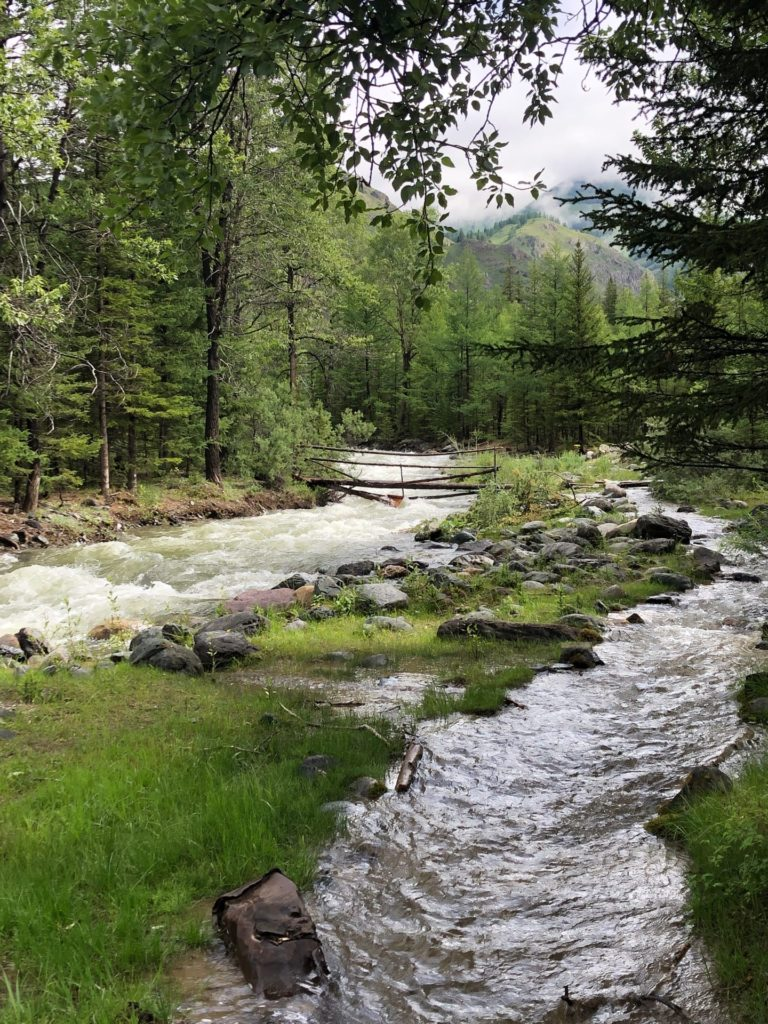 Речка возле Акташа