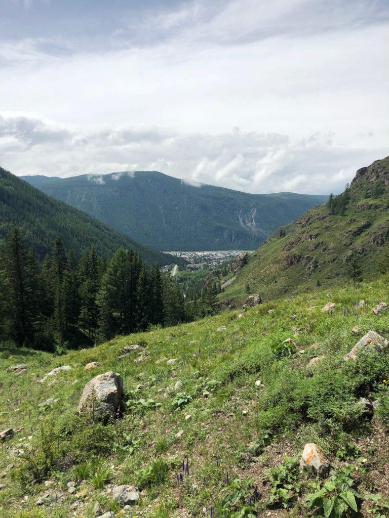 Вид на Акташ с горы